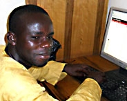 Student at Computer in Tamale