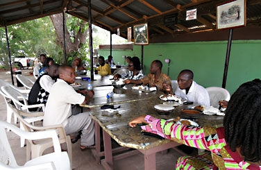 Lunch with Students in Tamale